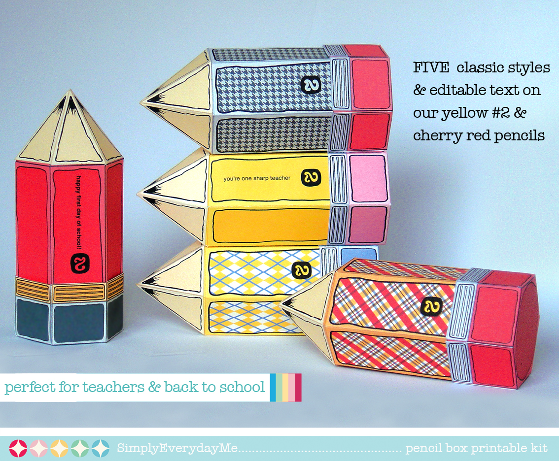 EverydayMe: Back to School... Printable Pencil Boxes...