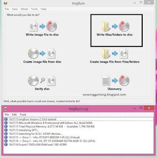 Cara Burning CD/DVD dengan Imgburn