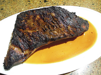grilled tri tip after 10-minute rest