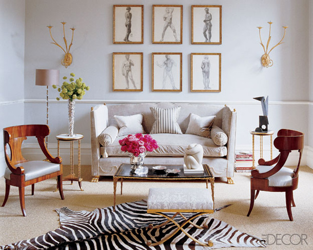 Elle decor black and gold living rooms