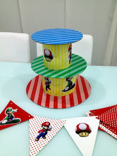 Mario Brothers cupcake stand