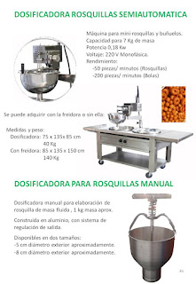 dosificadora rosquillas semiautomatica, rosquillera manual.
