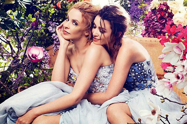 Minogue sisters starred together for the first time since 1999 gloss cover