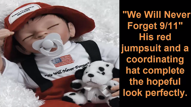 9/11 Commemorative Doll, Future Firefighter, 16 inch Vinyl Artist: Jullie Molloy
