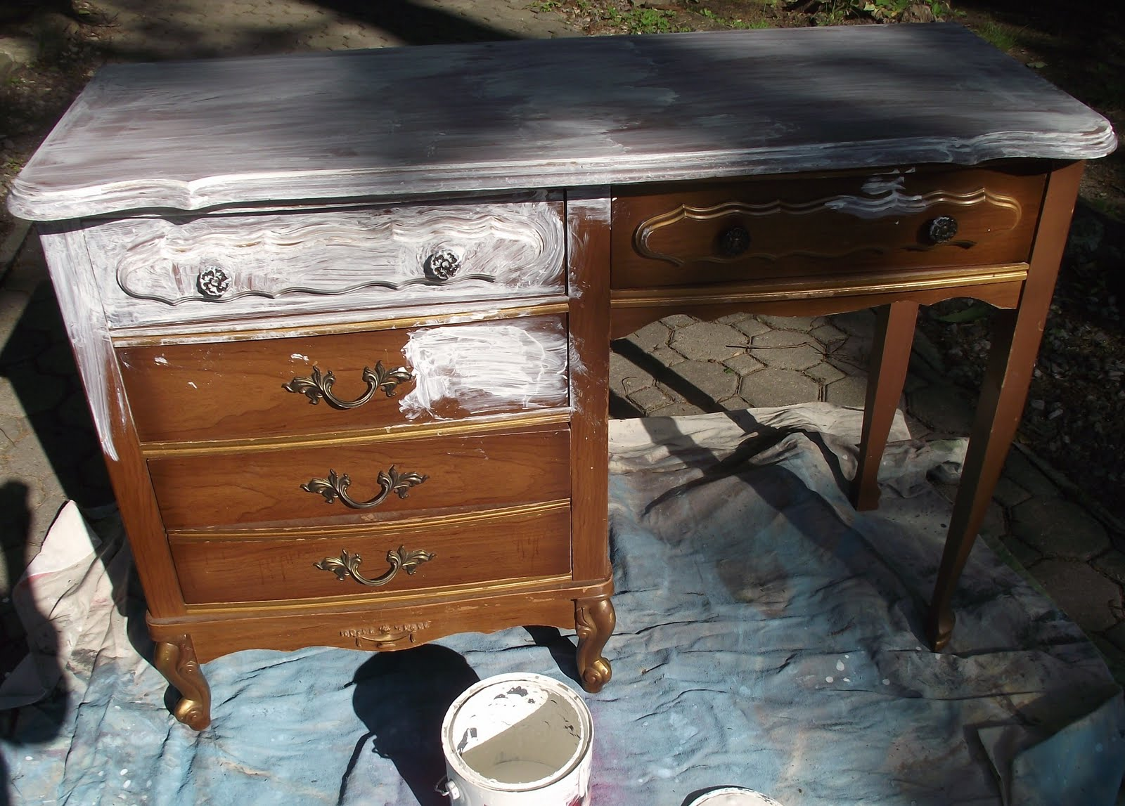 Serendipity Chic Design French Country Deskvanity - French country desk