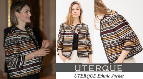 Queen Letizia's UTERQUE Ethnic Jacket