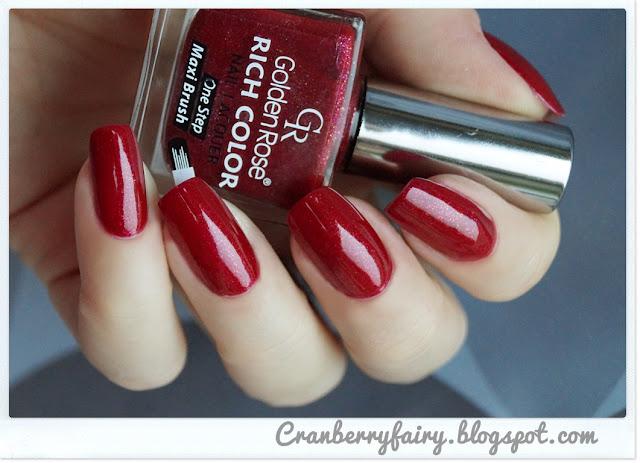 czerwony lakier golden rose