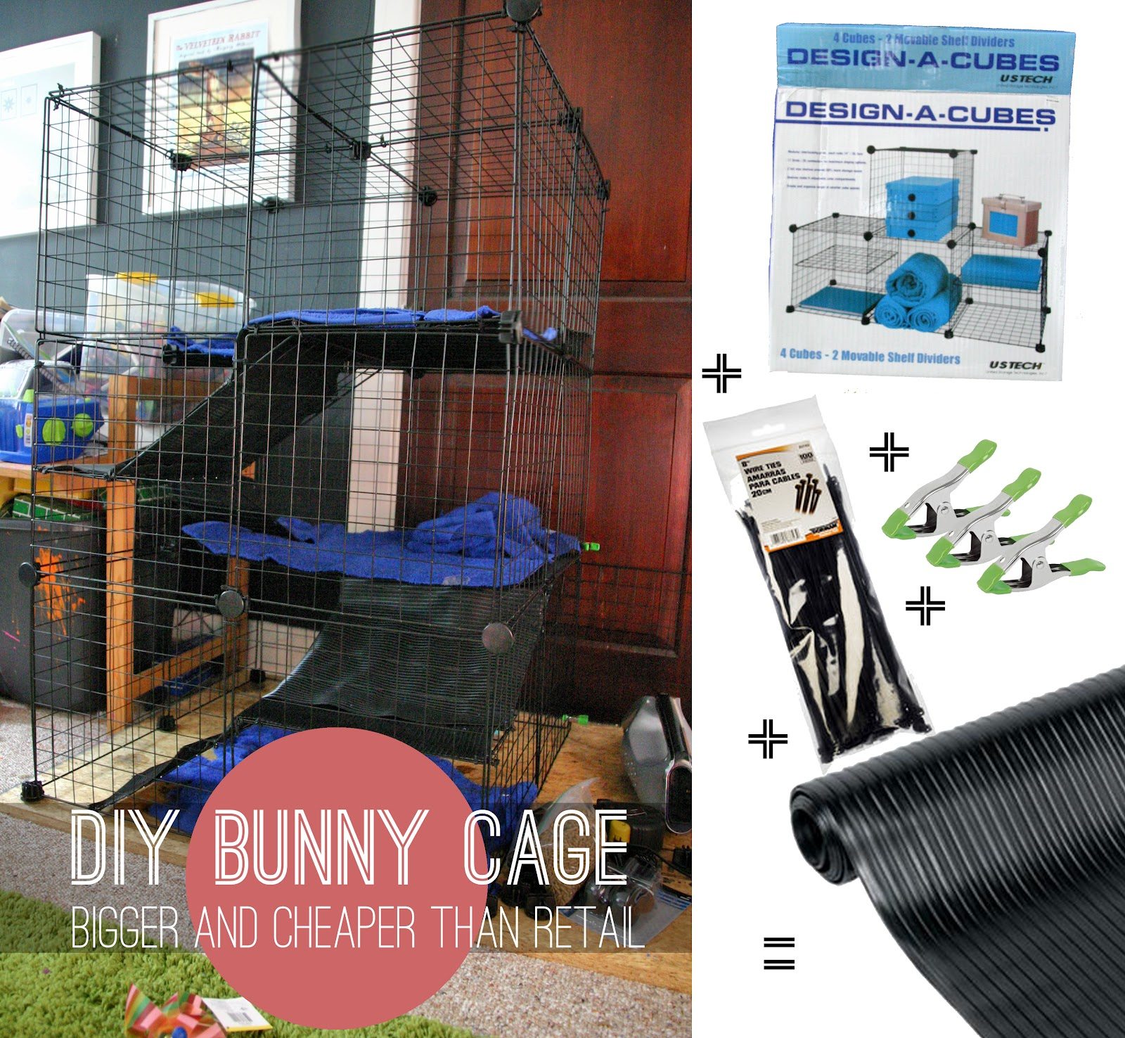 Grosgrain diy bunny small animal cage bigger and for Easy diy rabbit cage budget