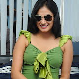 Haripriya in Spicy Short Mini Skirt and Green Top at Glitters Film Academy
