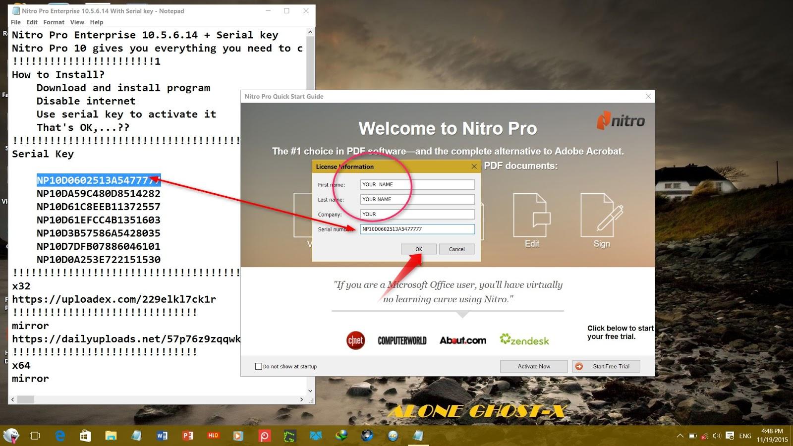 nitro pro 10 crack serial key