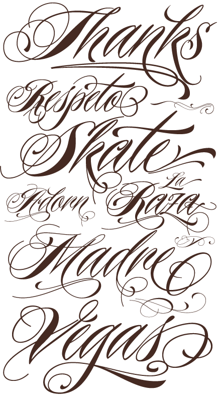 Free Cursive Tattoo Fonts SloDive Graphic WebDesign Blog