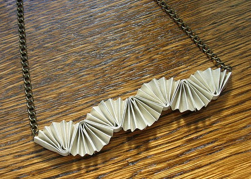 Folded Paper Necklace - paper jewelry by Ann Martin