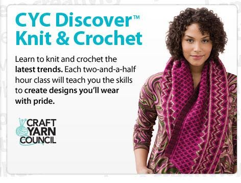 Crocheting Classes At Michaels : Sus dBella Studio: Wahoo! CYC Discover classes on Michaels website