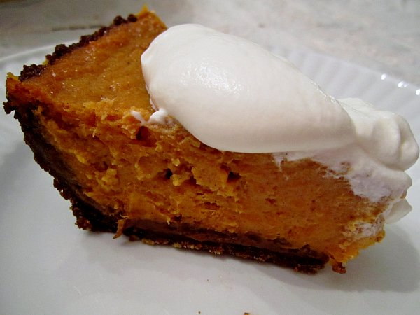 ... : Sweet Potato Pie with Gingerbread Crust and Bourbon Whipped Cream