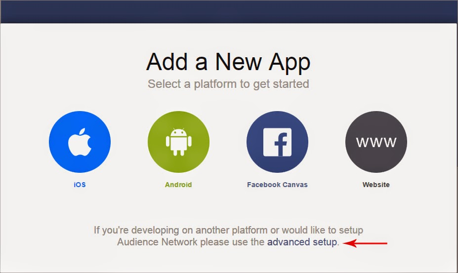 Facebook Advance Setup