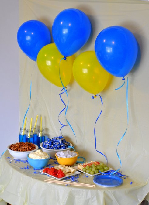 minions movie party yellow blue decorations food