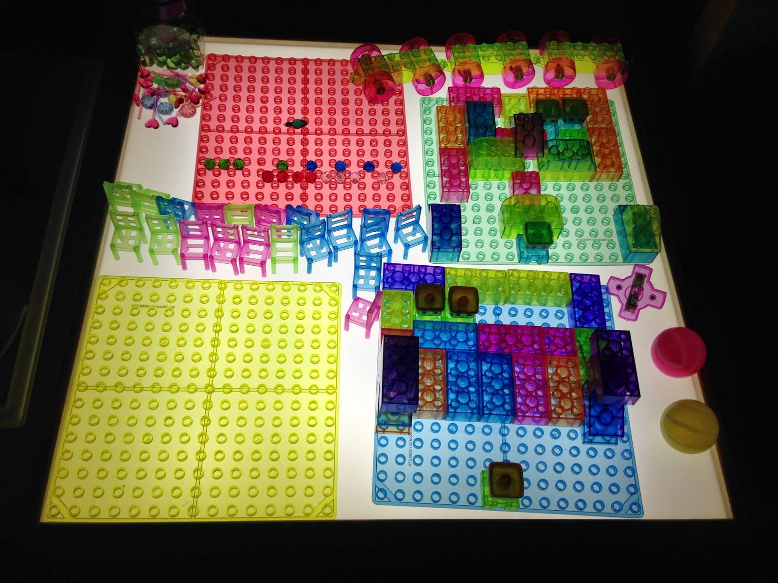 lego light table block play