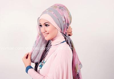Tutorial Cara Memakai Jilbab Hijab Pashmina Kreasi KombinasiSimple Terbaru