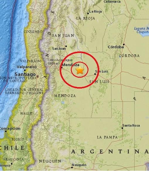 Magnitude 4.6 Earthquake of San Martin, Argentina 2015-04-12