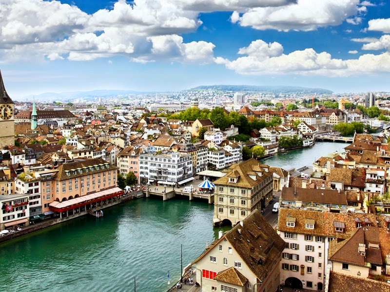 Sungai-Limmat-Zurich