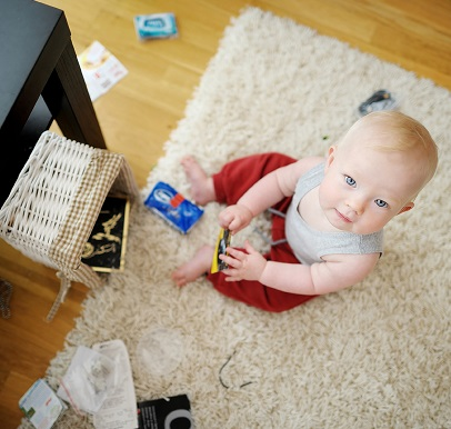 baby chaos, baby clutter, organised with baby, organising baby