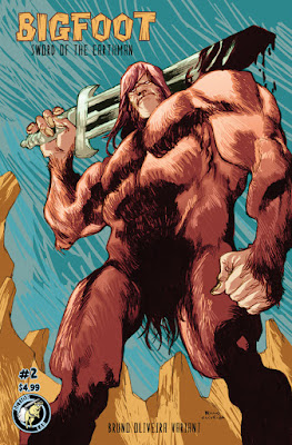 Bigfoot Sword of the Earthman bigfoot comic Action Lab Entertainment issue two bruno oliveira variant bigfoot comic book graphic novel barbarian