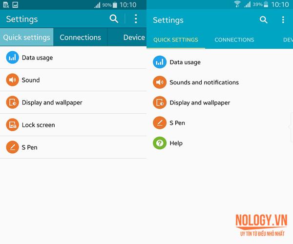Giao diện mới của Note 4 xách tay khi lên Android 5.0.1
