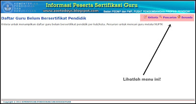 Informasi Sertifikasi Guru - [klik untuk memperbesar gambar]