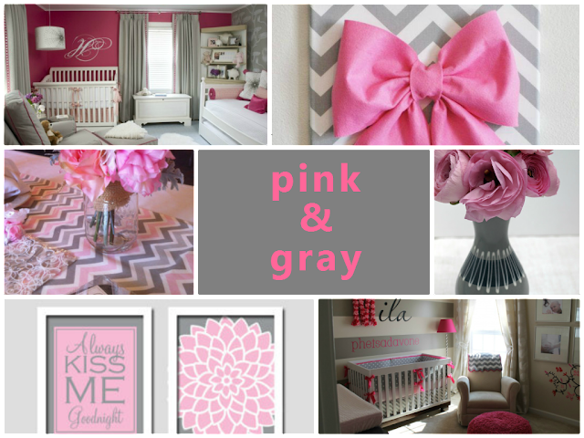 pink and gray color combination for home decoration
