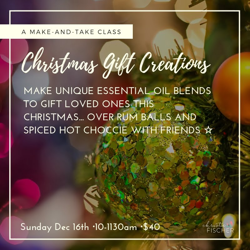 XMAS OILS WORKSHOP COMING UP