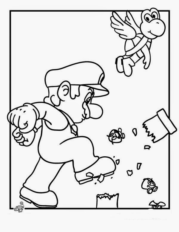 Mario Bro Coloring Pages Bros For New