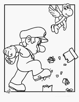 New Super Mario Bros Coloring Pages