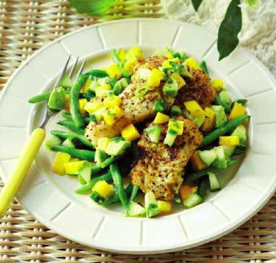 Lemon Pepper Fish with Mango Salsa