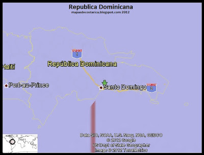 Mapa de Republica Dominicana, Google Earth