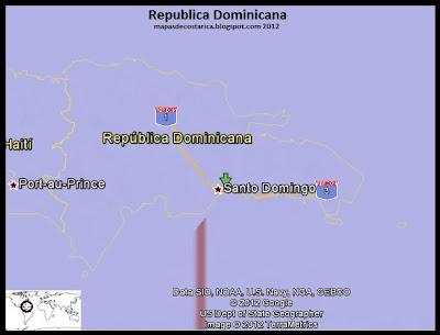 Mapa de Republica Dominicana, Google Earth