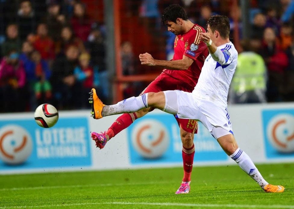 Spain vs Luxembourg 2014
