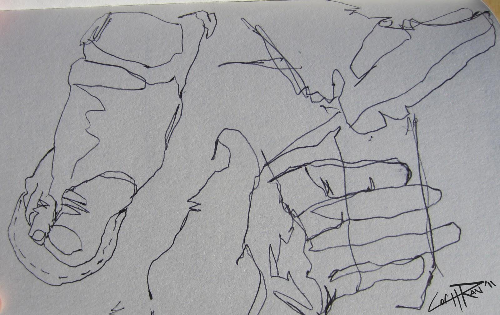 Contour Line Drawing Practice : My world contour practice