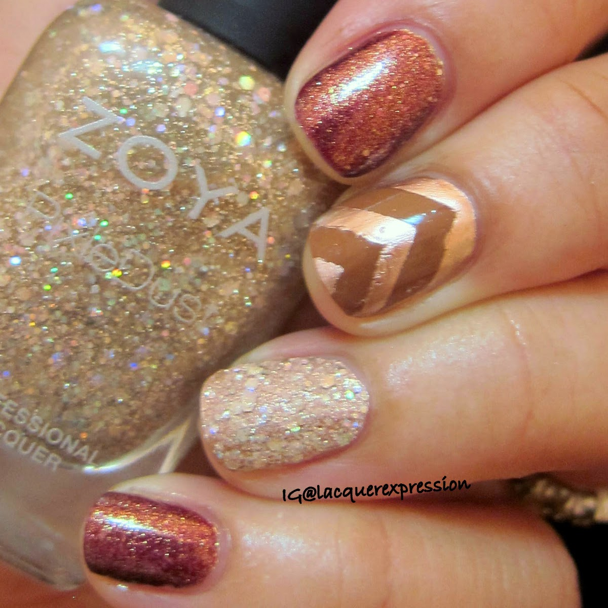 Fall inspired manicure using zoya bar
