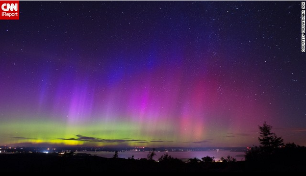 Stunning night skies come alive above N. America as solar storm enhances