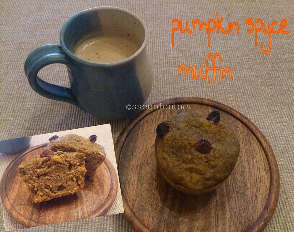 Muffins integrales de calabaza especiada