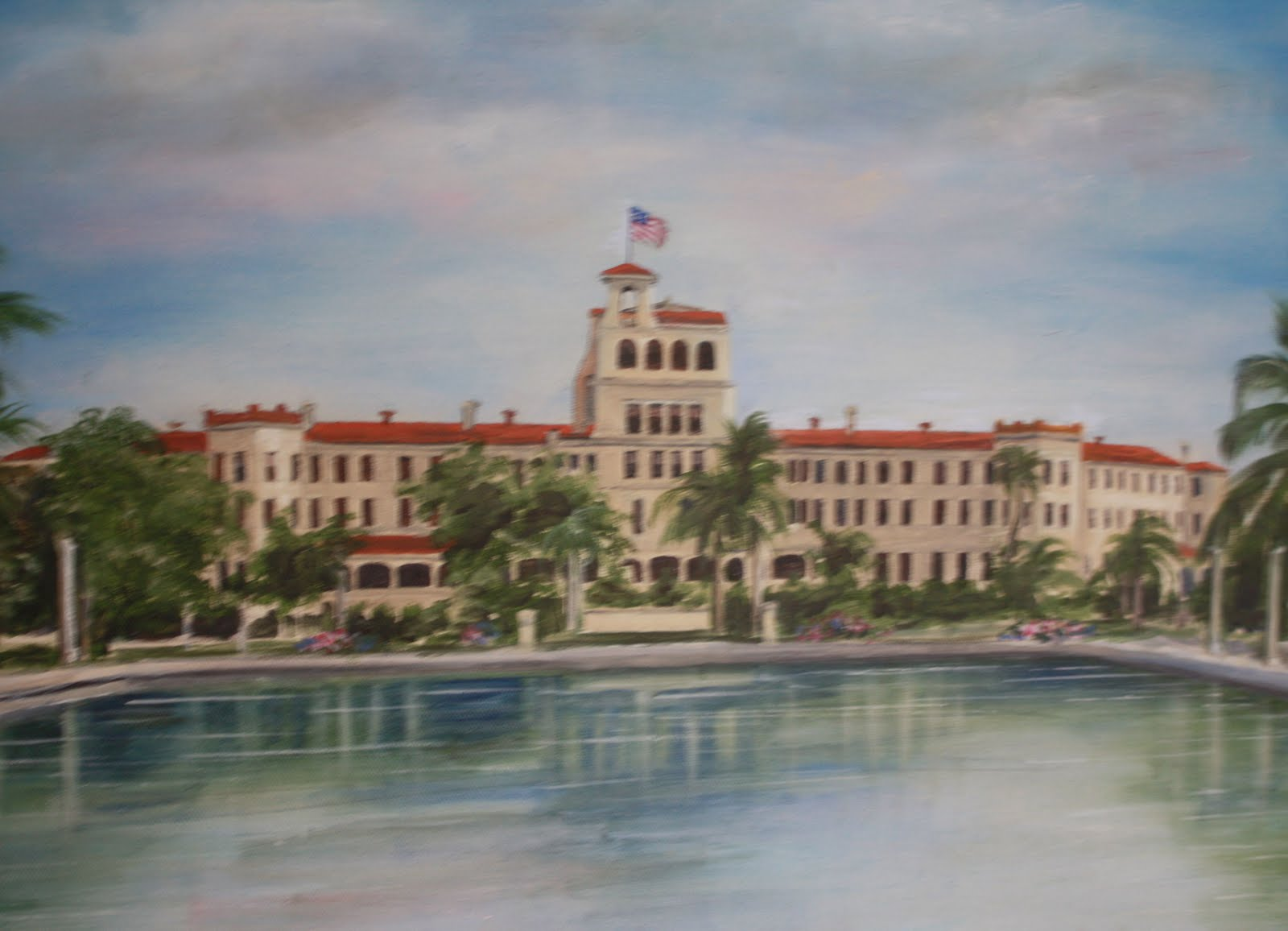 Painting Of The Old Punta Gorda Hotel Charlotte Harbor