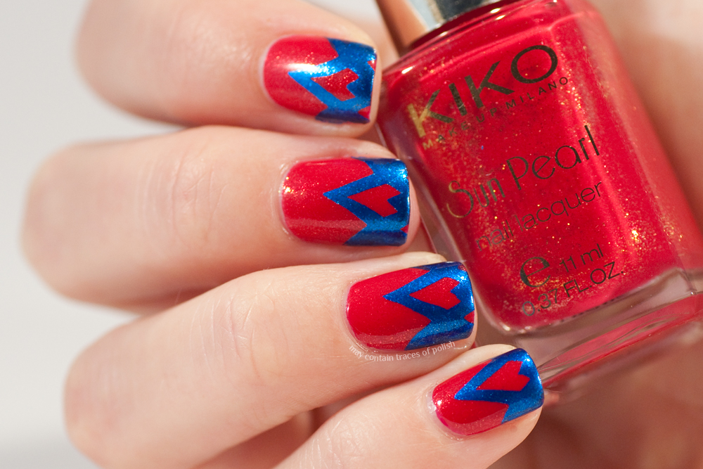Bold Funky French Nails May Contain Traces Of Polish