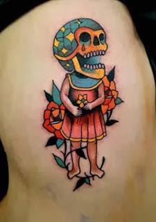 Fotos de tattoo de caveira new school