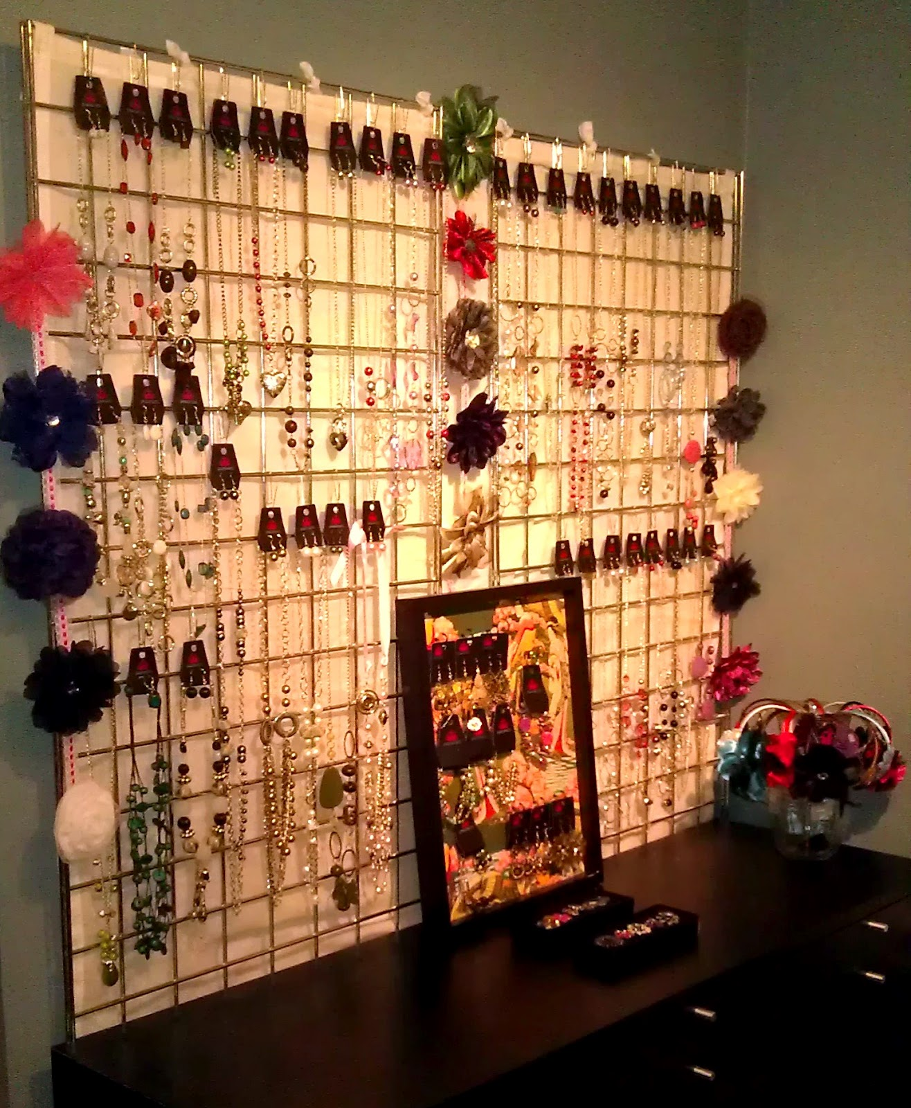 jewelry display for necklaces pendants watches rings my wall
