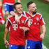 Ribéry e Rafinha desfalcam o Bayern de Munique por algumas semanas