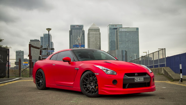 Coches Deportivos Nissan Skyline R35 GT-R Rojo