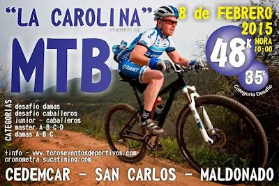 MTB - La Carolina de verano (San Carlos, Maldonado, 08/feb/2015)