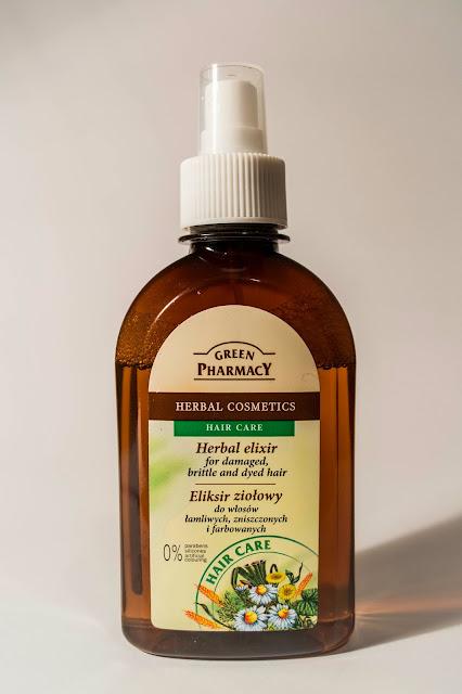 Green Pharmacy Eliksir ziołowy do włosów łamliwych, zniszczonych i farbowanych