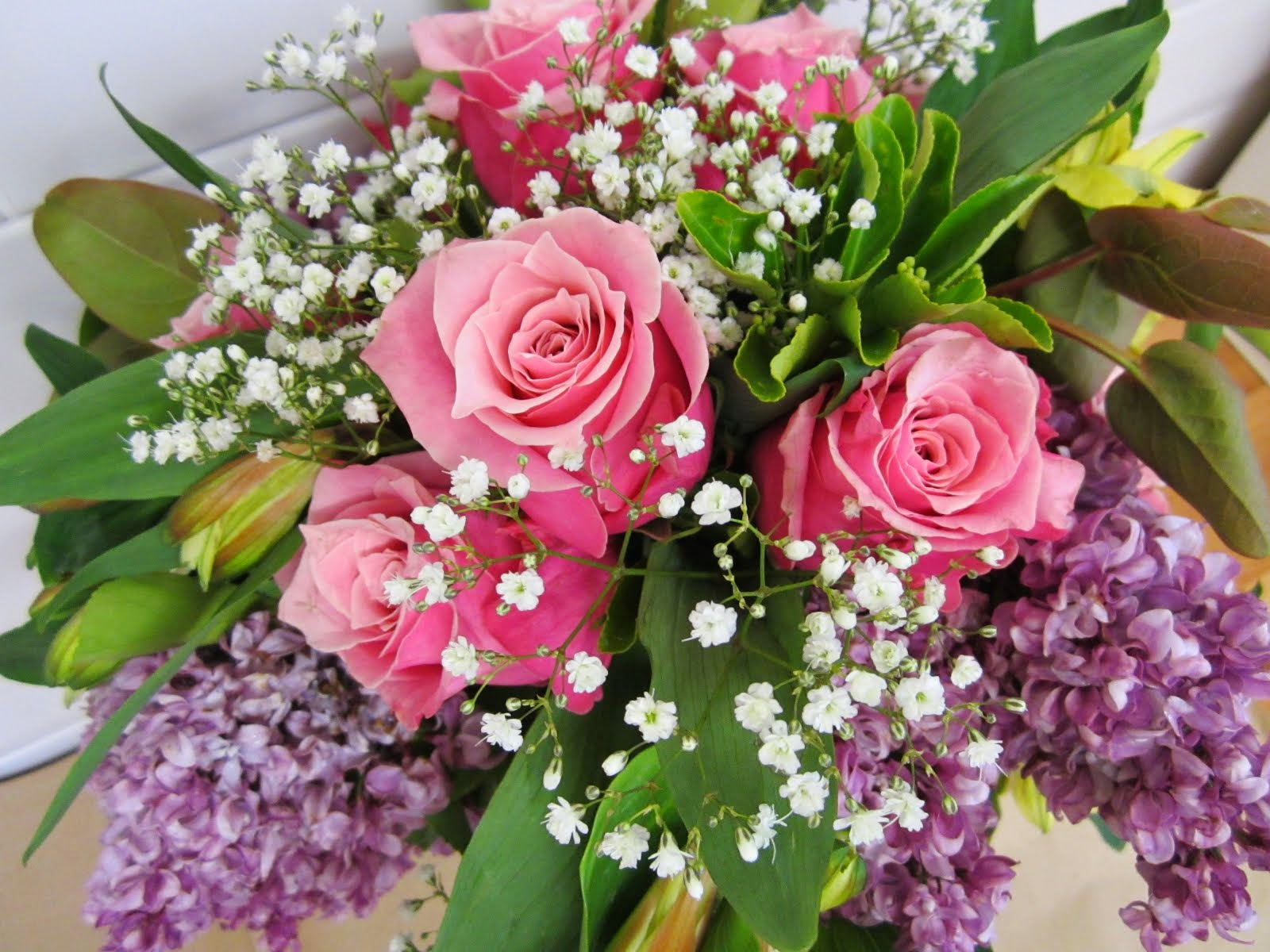 Garden Lilac and Roses