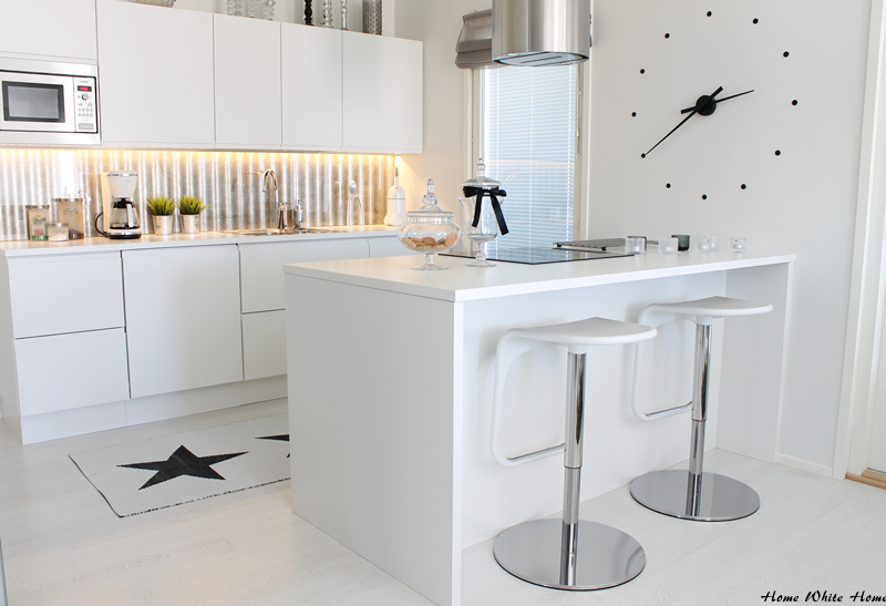 Home white home valkoinen valtakuntani for Cocinas integrales blancas modernas